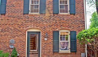 The Federal-style town home at 213 1/2 S. Fayette St. in Old Town Alexandria is on the market for $619,000.
