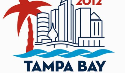 PROVIDED BY THE 2012 TAMPA BAY HOST COMMITTEE  An apparent minaret in the logo of the 2012 Tampa Bay Host Committee for the Republican National Committee is part of a famous 1891 hotel.