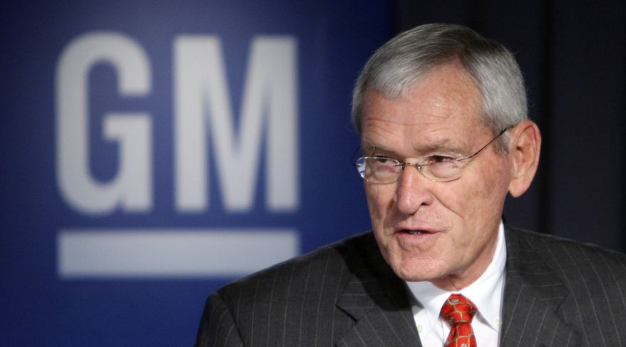 ** FILE ** General Motors Co. CEO Ed Whitacre, pictured here in July 2009, said Thursday he will step down Sept. 1. (AP Photo/Carlos Osorio, File)