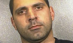 This undated photo released by the Arlington County, Va., Police Department shows Elias Abuelazam, who was charged on Thursday, Aug. 12, 2010, with assault with intent to murder in connection with a July 27 stabbing in Flint, Mich. (AP Photo/Arlington County Police Department)