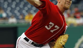 ASSOCIATED PRESS Washington Nationals pitcher Stephen Strasburg delivers to the Arizona Diamondbacks during the first inning of a baseball game in Washington, Sunday, Aug. 15, 2010.