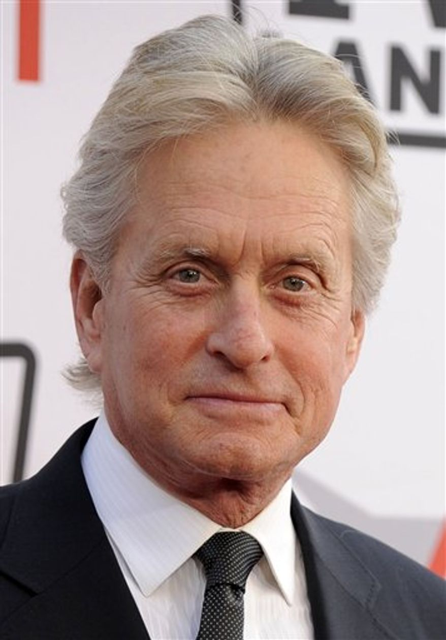 """In this publicity image released by NBC Universal, actor Michael Douglas, right, speaks during an interview with Matt Lauer, co-host of the NBC """"Today"""" show on Monday, Jan. 10, 2011 , in New York.  The interview will air on Tuesday. (AP Photo/NBC, Peter Kramer)"""