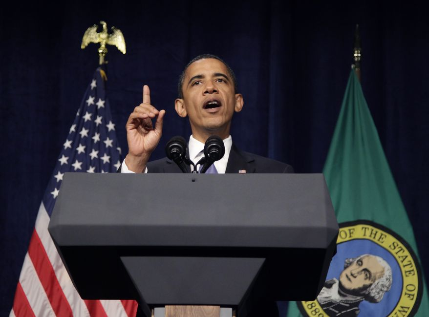 ASSOCIATED PRESS President Barack Obama speaks at a fundraising event in Seattle, Tuesday, Aug. 17, 2010.
