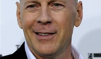 """** FILE ** Bruce Willis, at the 2010 premiere of """"The Expendables,"""" in Los Angeles. (AP Photo/Chris Pizzello)"""