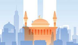 Illustration: Ground Zero Mosque by Linas Garsys for The Washington Times