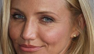 FILE - In this July 23, 2010 file photo, US actor Cameron Diaz poses on the red carpet to promote the film 'Knight and Day' in Bordeaux, Southwestern France. If you're looking for Cameron Diaz, Julia Roberts or Jessica Biel online, look out! The movie stars top the latest list of the most dangerous celebrities to search for online, according to new research by computer-security software maker McAfee Inc.  (AP Photo/Bob Edme)