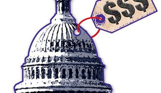 Illustration: Capitol Price by Greg Groesch for The Washington Times