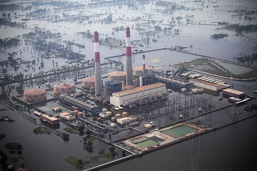 Lal Pir power generating station which   is submerged in flood water further increased the power crisis in Muzaffargarh near Multan, Pakistan on Thursday, Aug. 19, 2010. Islamist terrorists may exploit the  chaos and misery caused by the floods in Pakistan to gain new recruits, the country's president said Thursday. Asif Ali Zardari's remarks were echoed by U.S. Sen. John Kerry, who toured some of the worst hit areas and visited a relief camp alongside the president. (AP Photo/B.K.Bangash)