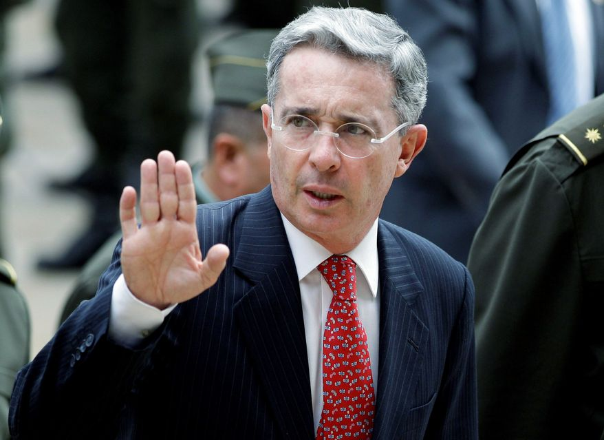 "BACK FROM THE BRINK: Former Colombian President Alvaro Uribe triggers ""a multiplicity of views."" (Associated Press)"