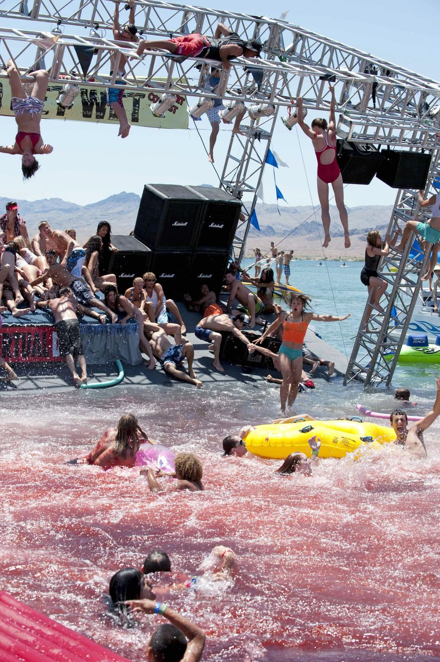 """Piranha 3D"" has been called ""a scathing indictment of America's increasingly blatant obsession with dirty sex."" (Associated Press)"