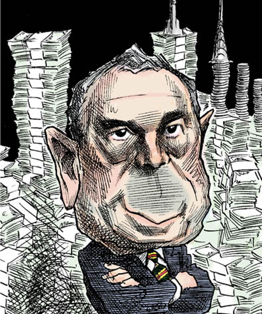 Illustration: Mayor Bloomberg by Taylor Jones
