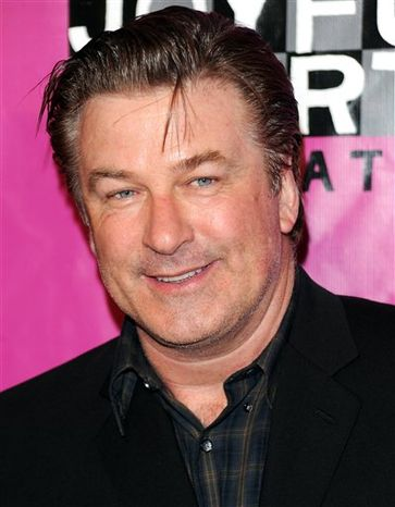 """FILE - In this May 5, 2010 file photo, actor Alec Baldwin attends the Joyful Heart Foundation Gala in New York. Baldwin is philosophical about the end of """"30 Rock'""""s three-year run as best comedy at the Emmys. (AP Photo/Evan Agostini, File)"""