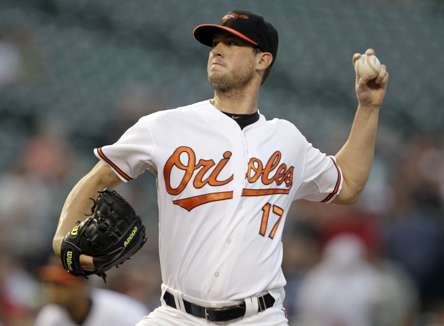 ASSOCIATED PRESS Baltimore Orioles starting pitcher Brian Matusz delivers to a Boston Red Sox batter during the first inning of a baseball game, Tuesday, Aug. 31, 2010, in Baltimore.