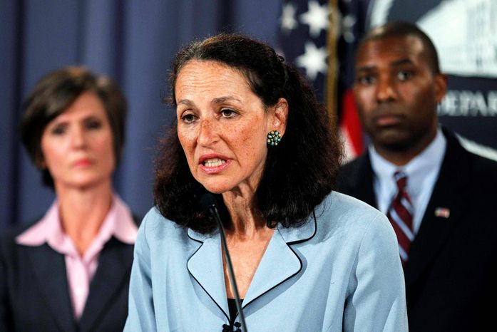 ASSOCIATED PRESS FDA Commissioner Margaret Hamburg explains the Botox settlement on Wednesday. Behind her are Assistant Attorney General Tony West and northern Georgia U.S. Attorney Sally Yates.