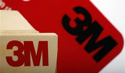 FILE - In this file photo made Tuesday, Jan. 26, 2010, the 3M Co. logo is seen on some of their products in Philadelphia. Technology company 3M Co. said Monday, Aug. 30, 2010, it has agreed to acquire Cogent Inc. in a deal worth about $933 million. (AP Photo/Matt Rourke, file)