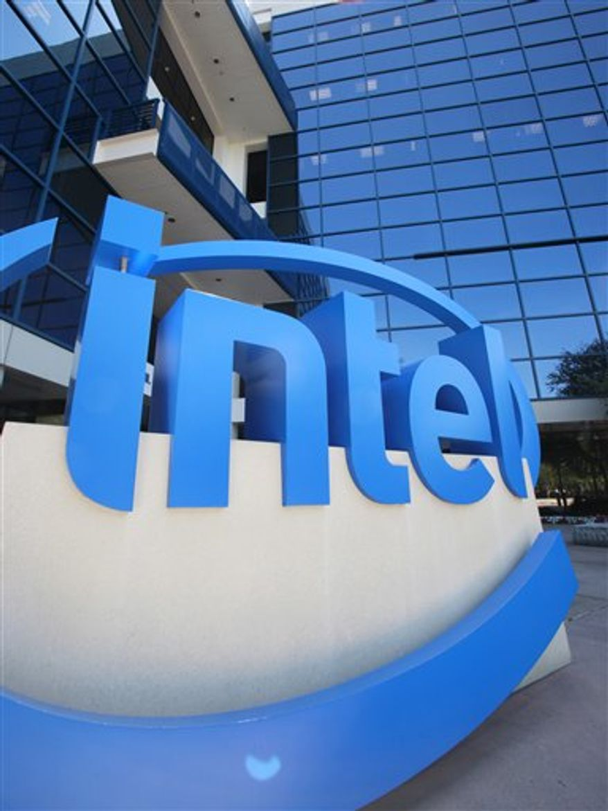 FILE - In this file photo taken July 12, 2010, the exterior of Intel Corp. headquarters is shown, in Santa Clara, Calif. German chipmaker Infineon Technologies AG is selling a unit that makes products for wireless telephones to California's Intel Corp. in a $1.4 billion cash deal, the companies said Monday, Aug. 30. (AP Photo/Paul Sakuma, file)