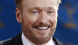 FILE - In this Aug. 29, 2010 file photo, Conan O'Brien arrives for the 62nd Primetime Emmy Awards in Los Angeles. (AP Photo/Matt Sayles)