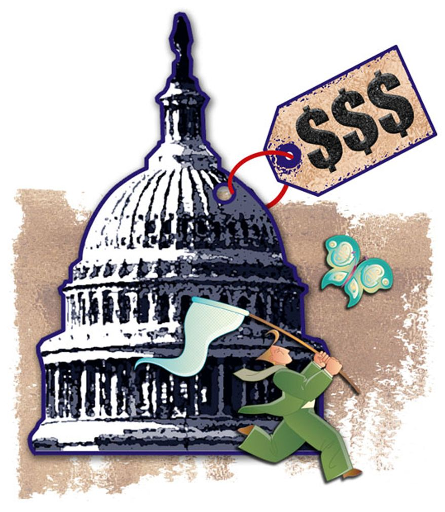 Illustration: Capital price tag by Greg Groesch for The Washington Times