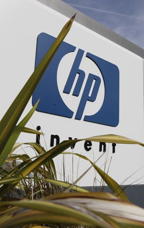 In this file photograph taken Feb. 16, 2010, the exterior of Hewlett Packard headquarters is shown in Palo Alto, Calif. Dell pulled out Thursday, Sept. 2, 2010 from a bidding war with Hewlett-Packard Co. for the data storage company 3Par Inc. (AP Photo/Paul Sakuma, file)