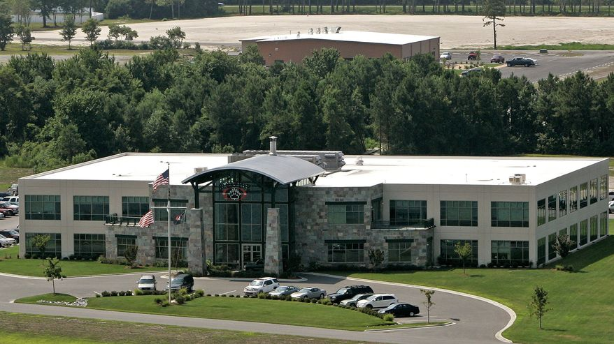 ** FILE ** In a Monday, July 21, 2008, file photo, Blackwater Worldwide's headquarters is seen in Moyock, N.C. (AP Photo/Gerry Broome, File)
