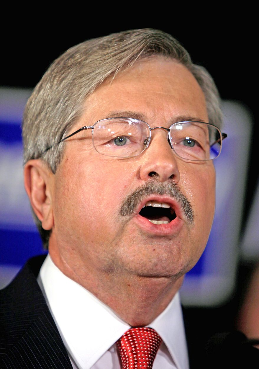 Iowa Republican gubernatorial hopeful Terry Branstad, who served from 1983 to 1999, is seeking a fifth term.