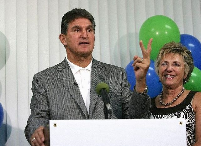 """Associated Press photographs West Virginia Gov. Joe Manchin III (left), a Democrat, leads in polls for a Senate seat, but his GOP rival, businessman John Raese (right), has closed the gap. One analyst calls it a """"race worth watc"""