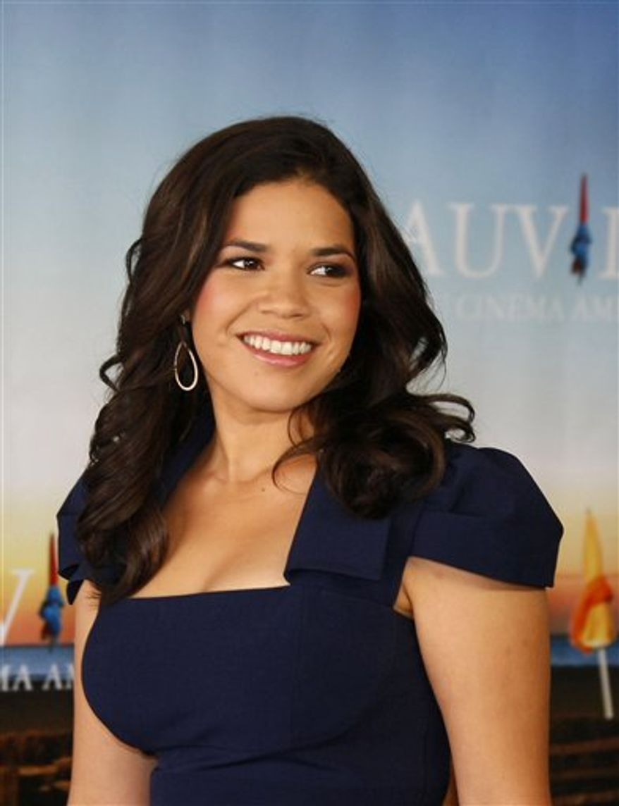 "U.S. actress America Ferrera poses for photographers during a photocall for the film ""The Dry Land"" at the 36th American Film Festival, in Deauville, Normandy, France, Tuesday, Sept. 7, 2010. (AP Photo/Michel Spingler)"
