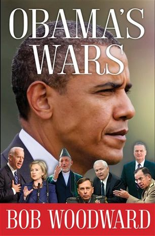 """This image provided by Simon & Schuster shows the cover of Bob Woodward's new book, """"Obama's Wars"""". Woodward's latest investigative work will run 441 pages and show Obama """"making the critical decisions on the Afghanistan War, the secret war in Pakistan and the worldwide fight against terrorism,"""" Simon & Schuster announced Tuesday Sept. 7, 2010. The book is scheduled to go on sale Sept. 27, 2010. (AP Photo/Simon & Schuster) NO SALES"""