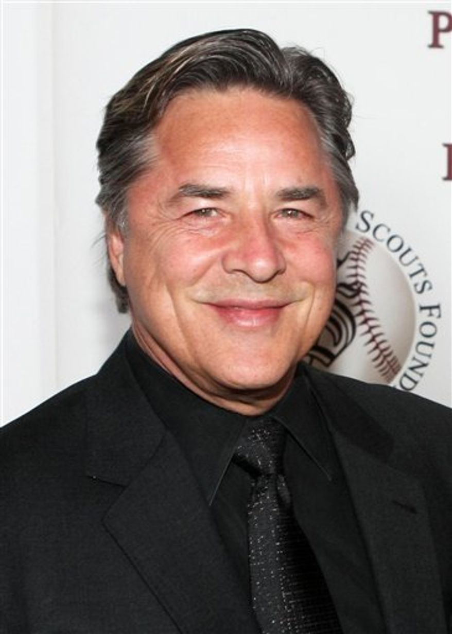 "In this Jan. 17, 2009 file photo, Don Johnson poses for photographers at the Professional Baseball Scouts Foundation's 6th Annual ""In the Spirit of the Game"" in Los Angeles. (AP Photo/Rene Macura, file)"