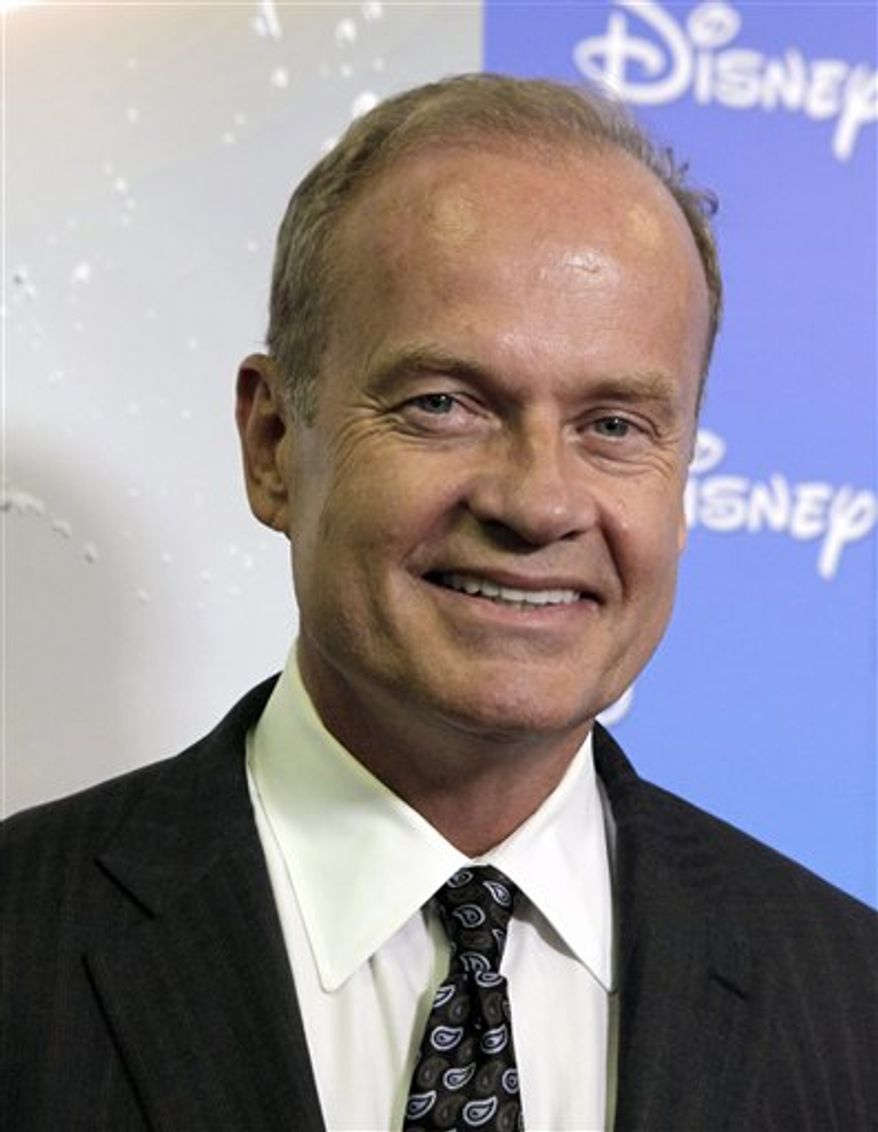 "FILE - In this Sept. 10, 2009 file photo, actor Kelsey Grammer arrives at ""The ABCs of Disney, a showcase of of the network's upcoming fall lineup, in Anaheim, Calif. Grammer is an investor and public face supporting a new network that launched Wednesday, Sept. 8, 2010 with entertainment designed to appeal to political conservatives. RightNetwork, whose first series ""Running"" follows the fortunes of some Tea Party-backed candidates for public office, is also trying a new model to establish itself. It is initially making programming available through video-on-demand services, the Internet and through mobile phones, bypassing the approach of a traditional television network with a spot on channel lineups.  (AP Photo/Reed Saxon, file)"