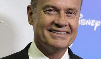 "** FILE ** In this Sept. 10, 2009, photo, actor Kelsey Grammer arrives at ""The ABCs of Disney,"" a showcase of the network's upcoming fall lineup, in Anaheim, Calif. Grammer is an investor and public face supporting a new network that launched Wednesday, Sept. 8, 2010, with entertainment designed to appeal to political conservatives. (AP Photo/Reed Saxon, file)"