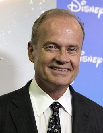 """** FILE ** In this Sept. 10, 2009, photo, actor Kelsey Grammer arrives at """"The ABCs of Disney,"""" a showcase of the network's upcoming fall lineup, in Anaheim, Calif. Grammer is an investor and public face supporting a new network that launched Wednesday, Sept. 8, 2010, with entertainment designed to appeal to political conservatives. (AP Photo/Reed Saxon, file)"""