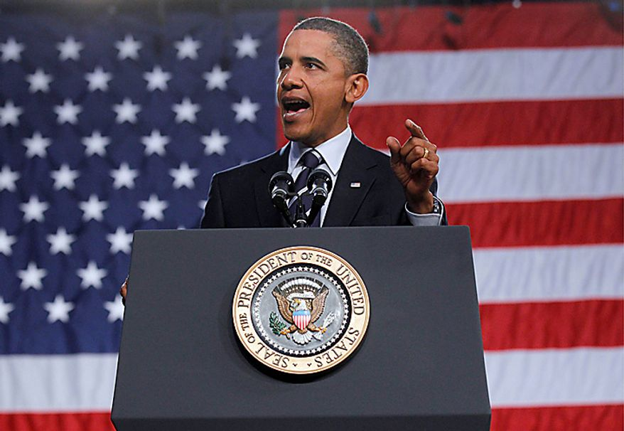 President Barack Obama delivers remarks on the economy,Wednesday, Sept. 8, 2010,  at Cuyahoga Community College West Campus in Parma, Ohio. (AP Photo/Pablo Martinez Monsivais)