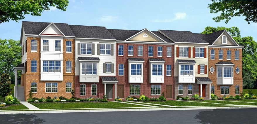 The Winchester Homes town homes at Poplar Run are base-priced from $363,900 to $401,900.