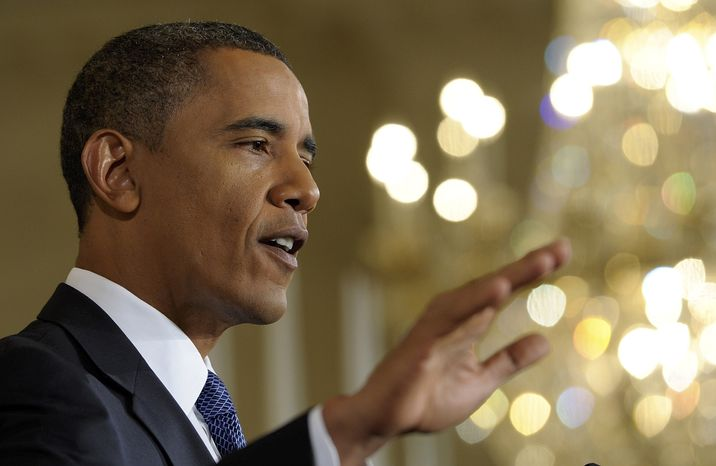 President Barack Obama answers a question during a news conference in the East Room of the White House in Washington, Friday, Sept. 10, 2010. (AP Photo/Susan Walsh)