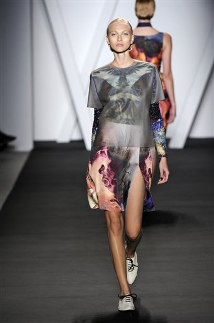 The Michael Angel Spring 2011 collection is modeled Friday, Sept. 10, 2010 during Fashion Week in New York. (AP Photo/Michael Angel Fashion) NO SALES