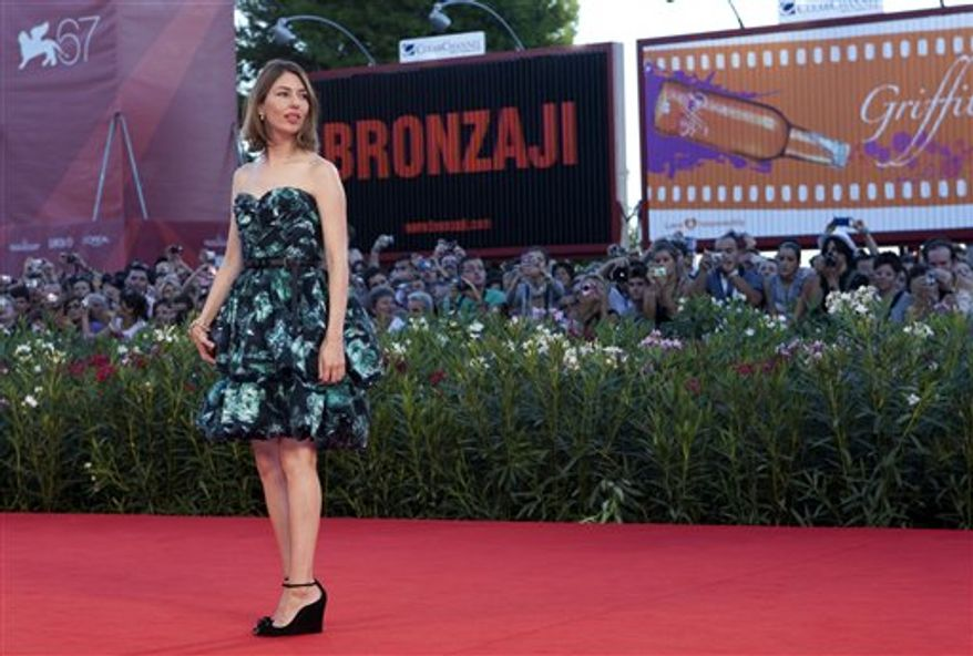 Director Sofia Coppola arrives for the Closing Ceremony red carpet at the 67th edition of the Venice Film Festival in Venice, Italy, Saturday, Sept. 11, 2010. (AP Photo/Joel Ryan)