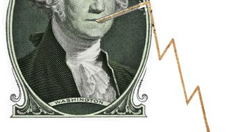 Illustration: Economic recovery by Linas Garsys for The Washington Times