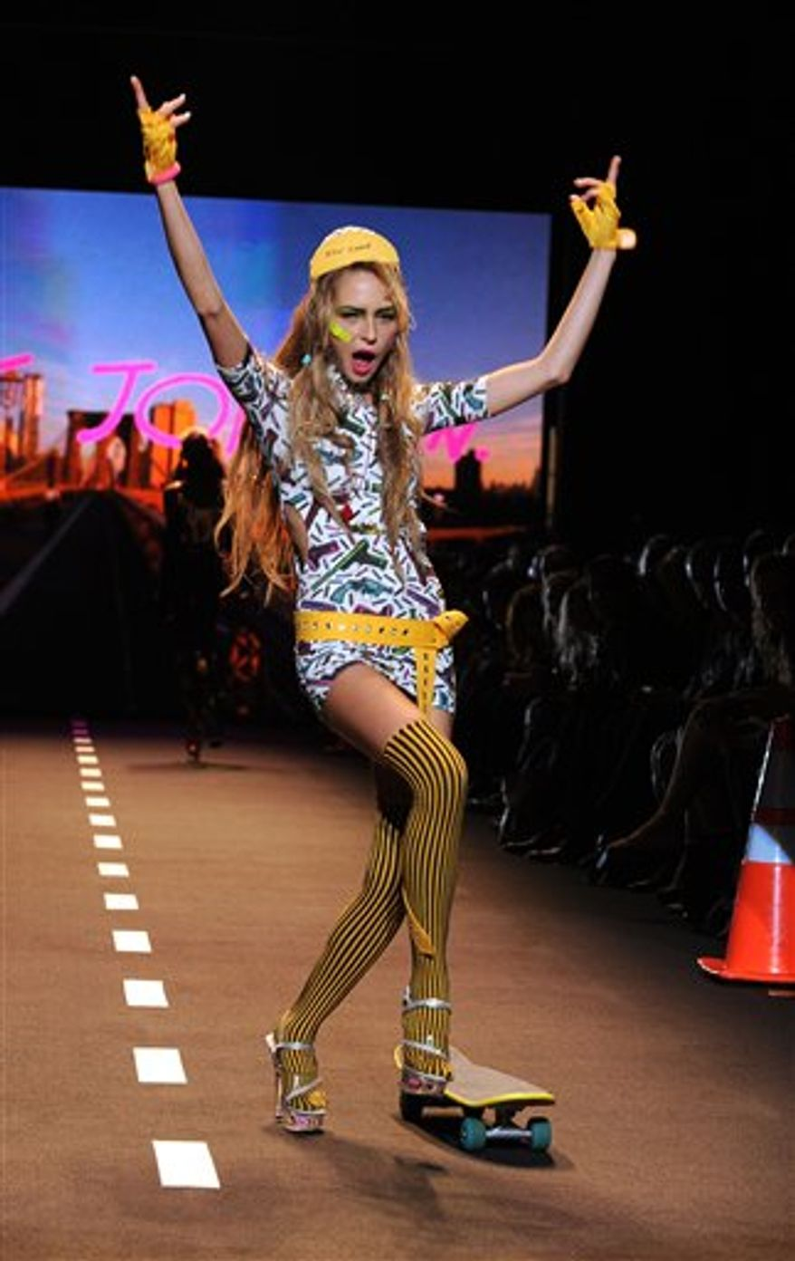 The Betsey Johnson spring 2011 collection is shown during Fashion Week in New York, Monday, Sept. 13, 2010. (AP Photo/Diane Bondareff)