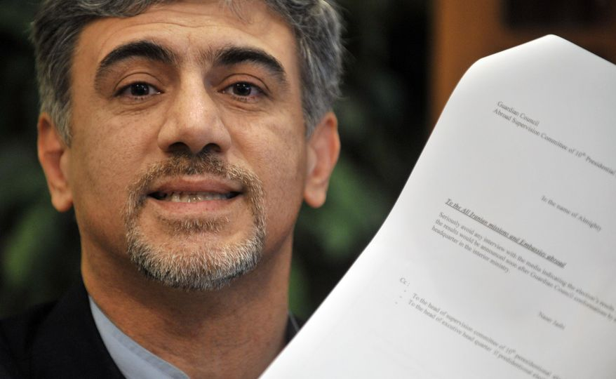 Former Iranian diplomat Hossein Alizadeh, during a press conference in Helsinki, Finland, Monday, Sept. 13, 2010. Mr. Alizadeh, who quit his job at the Islamic Republic's Embassy in Finland, said he will apply for political asylum in the Nordic country. (AP Photo/Lehtikuva, Markku Ulander)