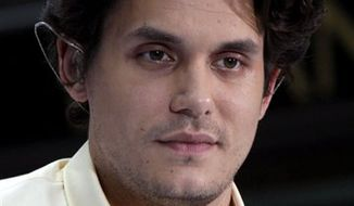 """FILE - In this July 23, 2010 file photo, John Mayer appears on the NBC """"Today"""" television program in New York. (AP Photo/Richard Drew, file)"""