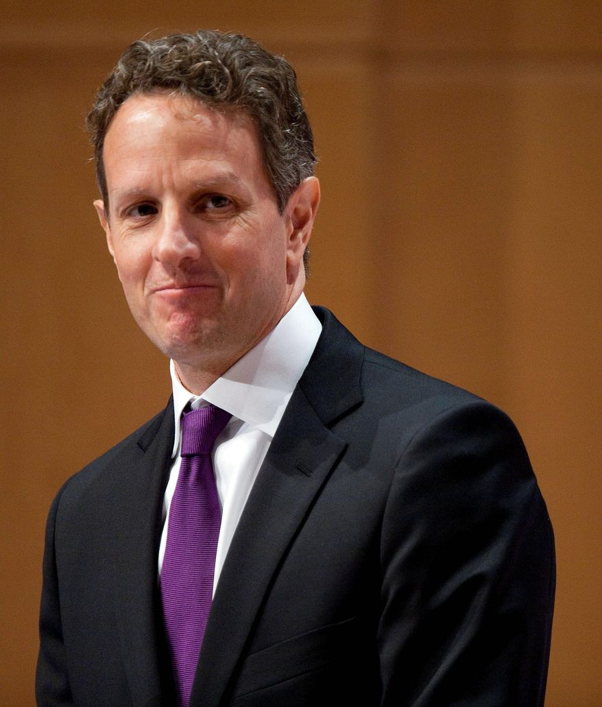 Treasury Secretary Timothy F. Geithner
