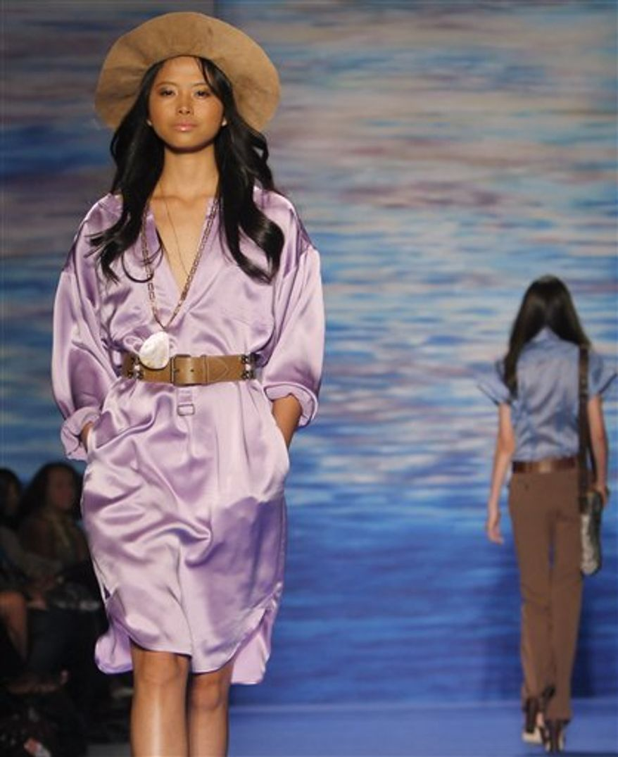 Fashion from Tracy Reese Spring 2011 collection is modeled Monday Sept. 13, 2010, during Fashion Week in New York. (AP Photo/Bebeto Matthews)