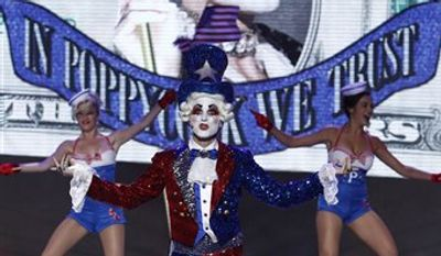 """In this publicity image released by NBC, contestant Prince Poppycock performs on """"America's Got Talent,"""" in Los Angeles. (AP Photo/NBC, Trae Patton)"""