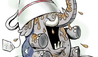 Illustration: Sore GOP by Alexander Hunter for The Washington Times