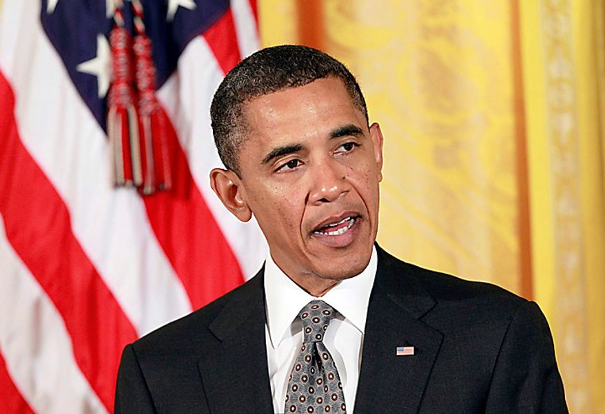 President Barack Obama announces his recommendations to work on free trade agreements and to step up trade promotion at a meeting of his export council, Thursday, Sept. 16, 2010, in the East Room of the White House in Washington. Less than two months before congressional elections, and with the economy a top issue for voters, Obama is turning his attention to trade, highlighting his goal of doubling U.S. exports over five years to drive economic growth. (AP Photo/J. Scott Applewhite)