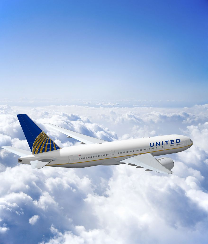 This photo illustraion made available on Aug. 11, 2010 by United Airlines and Continental Airlines shows changes to the visual branding for the new global airline. Shareholders of United's parent company and Continental Airlines are voting on a deal that would create the world's biggest airline. Results of the voting will be announced Friday Sept. 17, 2010. (AP Photo/United Airlines, Continental Airlines, Tammy Bryngelson)