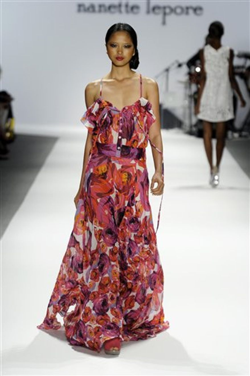 This Sept. 15, 2010 photo released by Nanette Lepore shows the Nanette Lepore spring 2011 collection modeled during Fashion Week in New York.  (AP Photo/Nanette Lepore)  NO SALES