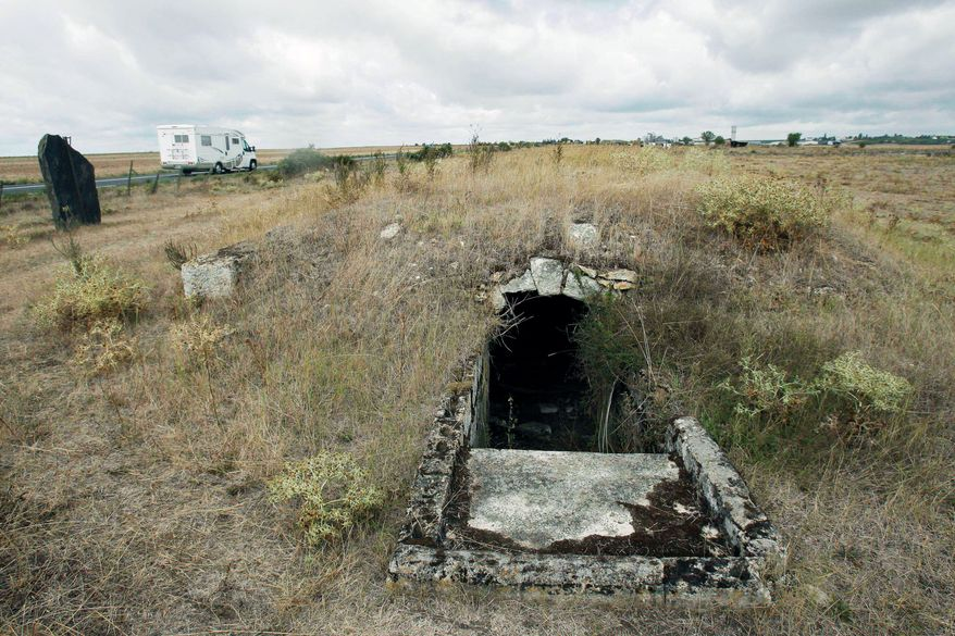 Associated Press photographs About all that remains of a World War II-era French Gypsy internment camp is the entrance to the underground part of the camp. Anyone caught trying to escape was locked in a filthy hole underground, a prison within a prison.