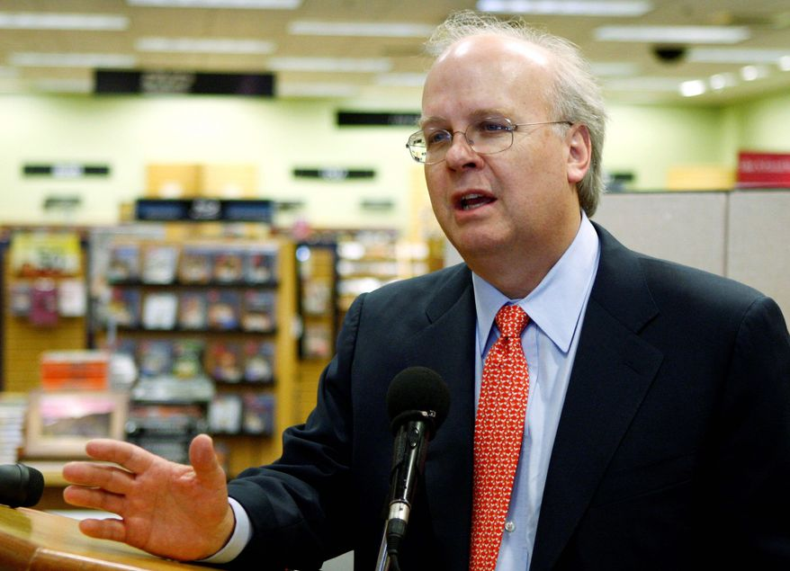 Karl Rove served as a senior adviser to President George W. Bush from 2000 to 2007 and White House deputy chief of staff from 2004 to 2007. (Associated Press)